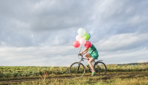 bike and balloons